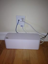Bluelounge - CableBox: Out of sight, out of mind Would this work behind the entertainment center?!