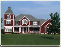 Barn red siding colorguard vinyl siding norman for Norman rockwell siding