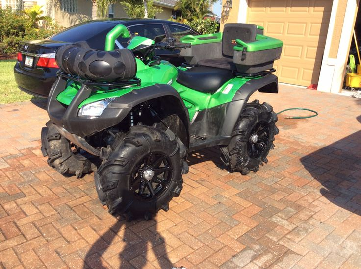2014 honda rincon with 30 inch gorilla tires with a 2 inch for Honda 4 wheeler dealers near me