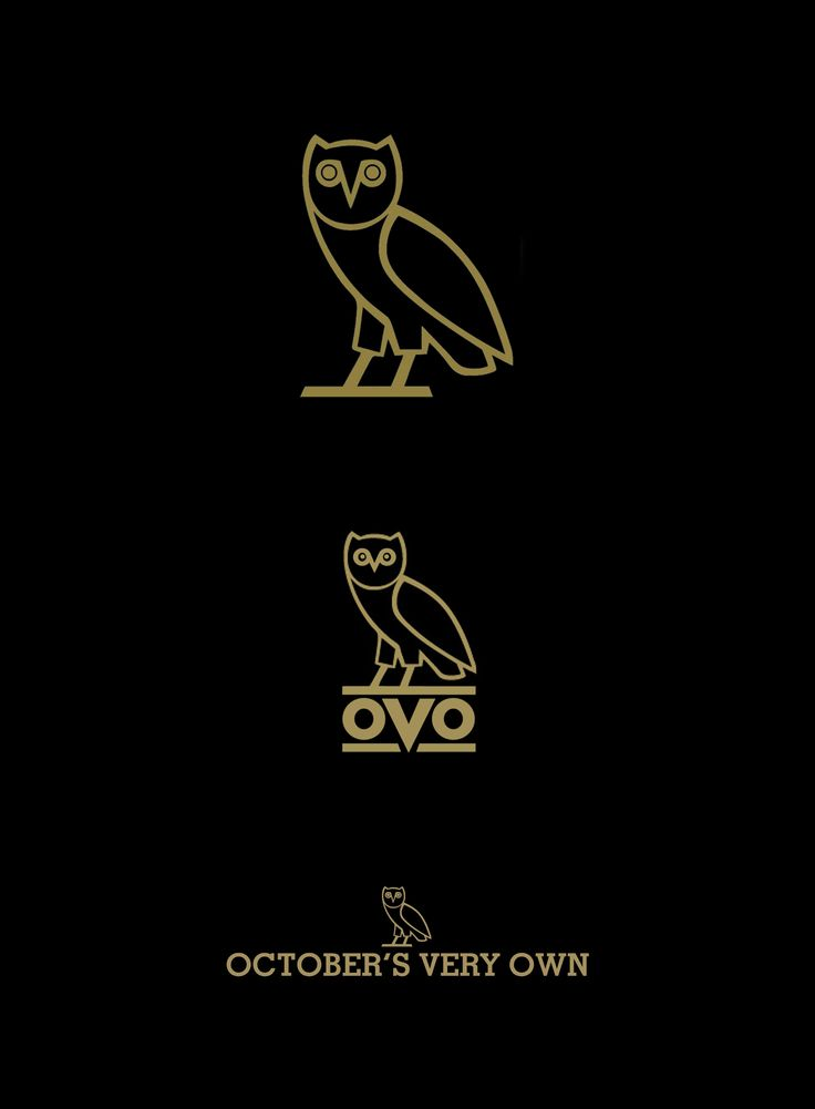 OVO logo and wordmark for Drake's made in Canada clothing line, OCTOBER'S VERY OWN. #branding #madeinCanada