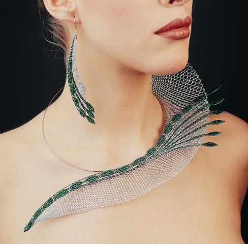 Bobbin lace necklace. Vlasta Wasserbauerová