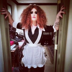 Kelly Osbourne as Magenta from The Rocky Horror Picture Show:   See What Your Favorite Celebrities Are Dressing Up As This Halloween