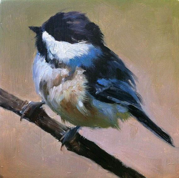 Baby Blackcapped Chickadee Painting by FinchArts, these are lovely and priced affordably