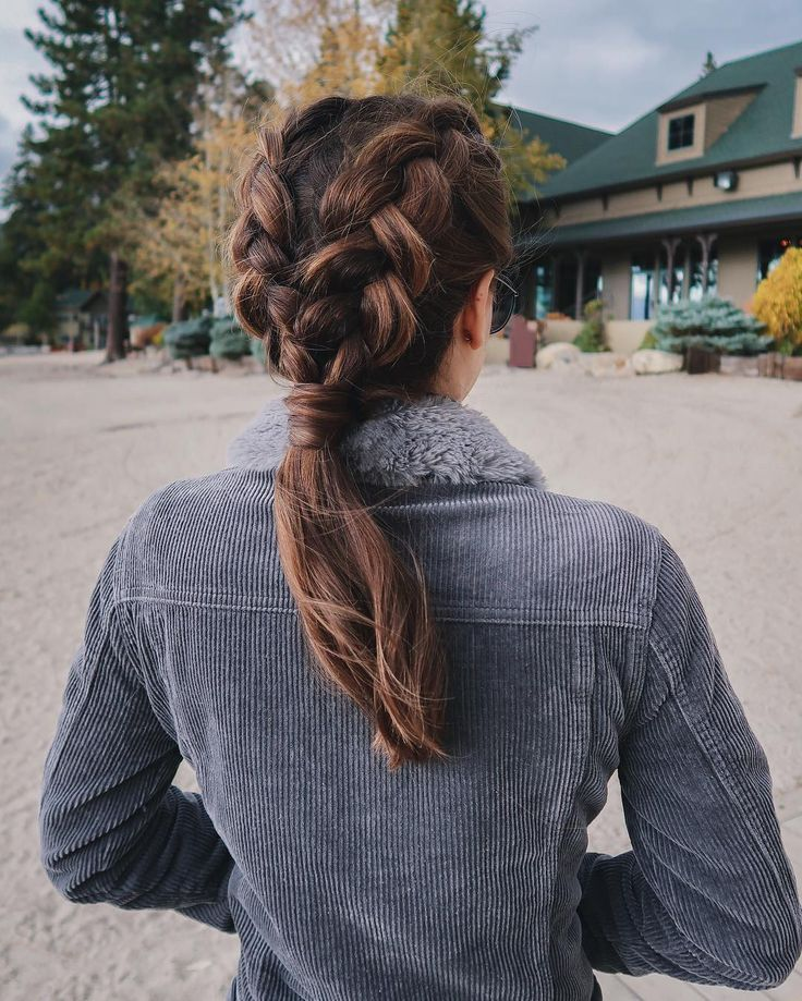 Boxer braid ponytail on Nichole Ciotti