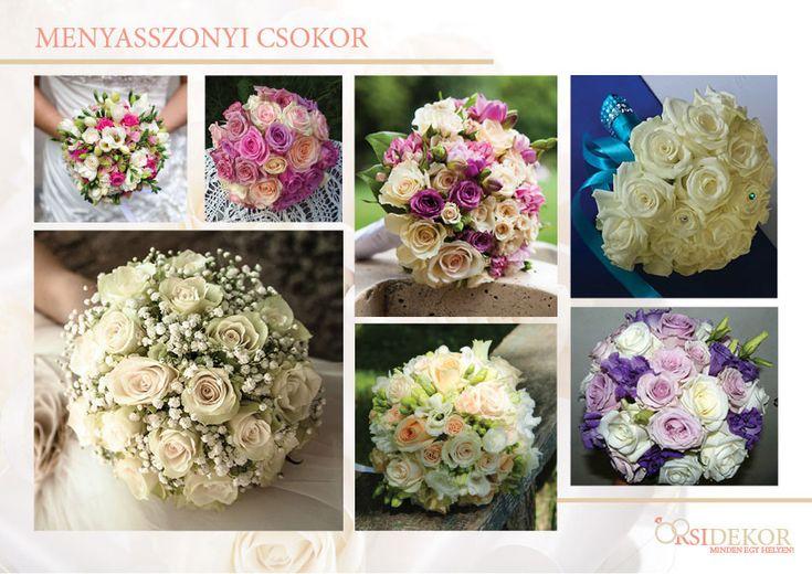 Menyasszonyi csokrok esküvőre az Orsi Dekortól
