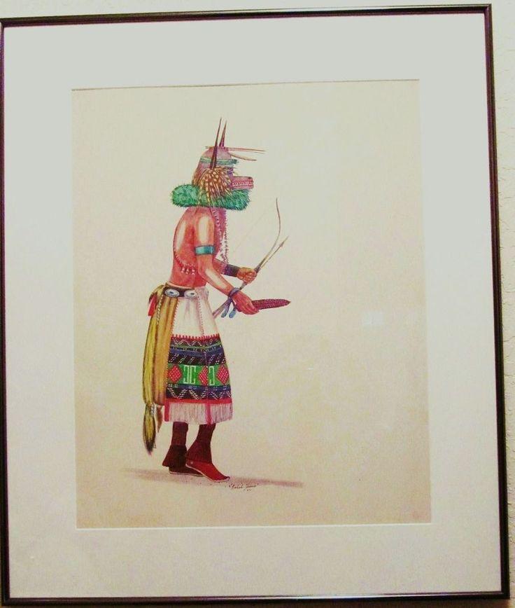 NAVAJO BAHAH-ZHONIE aka FRANK AUSTIN ('38) ORIGINAL INDIAN ART PAINTING '64 RARE