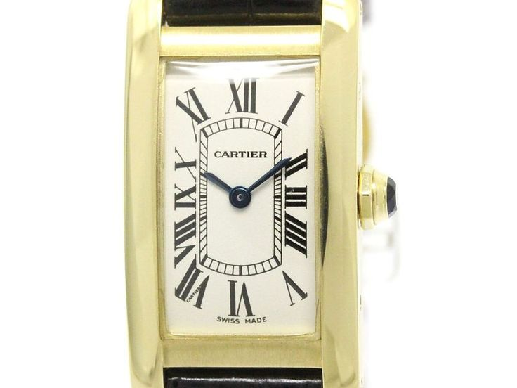 Polished #CARTIER Tank Americaine 18K Gold Quartz Ladies Watch W2601556 (BF106332): #eLADY global accepts returns within 14 days, no matter what the reason! For more pre-owned luxury brand items, visit http://global.elady.com