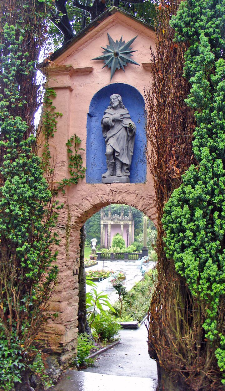 Unique doorway in the unique town of Portmeirion, Wales