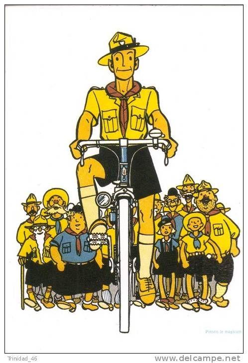 scouts on bike