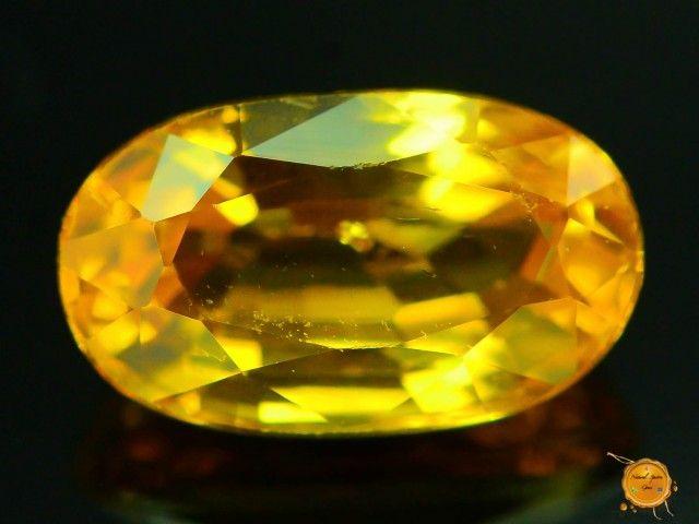 1.220 ct Natural Yellow Sapphire ~ Sri Lanka