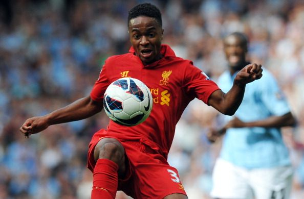 Liverpool midfielder Raheem Sterling controls the ball during the English Premier League football match between Liverpool and Manchester City at Anfield in Liverpool, north-west England on August 26, 2012