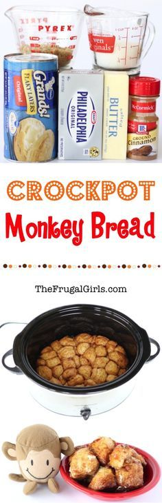 Crockpot Monkey Bread Recipe! ~ from TheFrugalGirls.com ~ there's nothing quite as delicious as this Slow Cooker cinnamon sugar ooey-gooey goodness! It's so easy to make and SO yummy for a breakfast treat or dessert! #slowcooker #recipes #thefrugalgirls