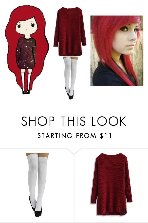 """The EMO KAWAII"" by anjalenaross ❤ liked on Polyvore"