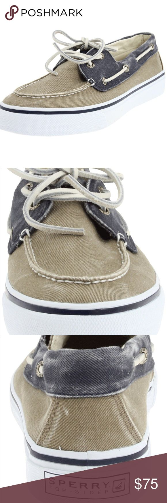 Top-Sider Men's Bahama Two-Eyelet Boat Shoe ▪️NEW IN BOX - NEVER WORN  ▪️NAVY / TAUPE  ▪️ 360-degree lacing system Hand-sewn construction Vulcanized rubber Ethylene vinyl acetate cusioned midsole Sperry Top-Sider Shoes Loafers & Slip-Ons