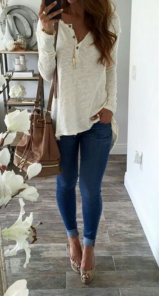 Best 50+ Best Fall Outfit For Women https://fashiotopia.com/2017/06/14/50-best-fall-outfit-women/ Accessorize with good jewelry to boost the dress that you select. Empire waist dresses work nicely for women that are petite. Skirts have always been part of casual styles for ladies, although in various patterns and colours.