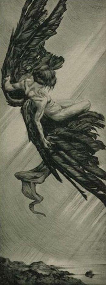 Icarus _____ Alois Kolb (1875-1942) | Icarus | 1901
