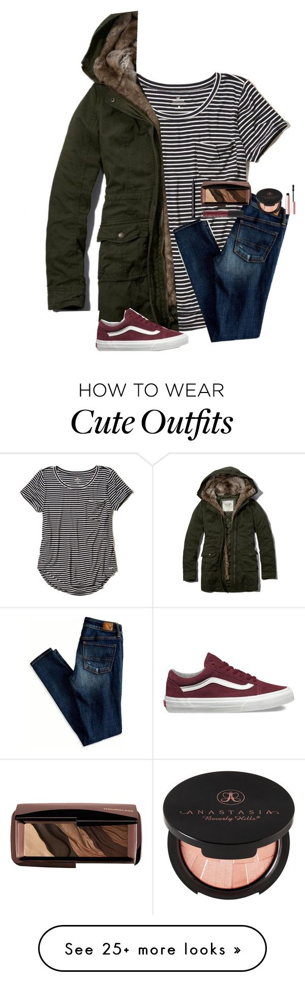 """ahhh a hot guy called me cute!!"" by whitesandprincess on Polyvore featuring Hollister Co., Abercrombie & Fitch, American Eagle Outfitters, Vans, Hourglass Cosmetics, Anastasia Beverly Hills, Too Faced Cosmetics and NARS Cosmetics"