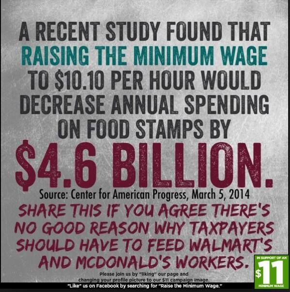 Reason To Raise Minimum Wage Food Stamps