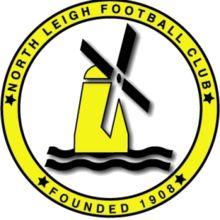 1908, North Leigh F.C. (England) #NorthLeighFC #England #UnitedKingdom (L16705)