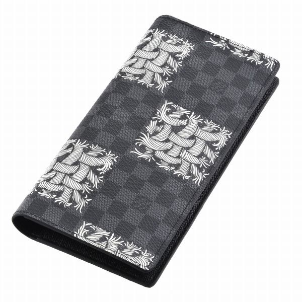 ルイヴィトン 財布 メンズ ダミエ グラフィット・ロープ ブラック×グレー ホワイト N61211