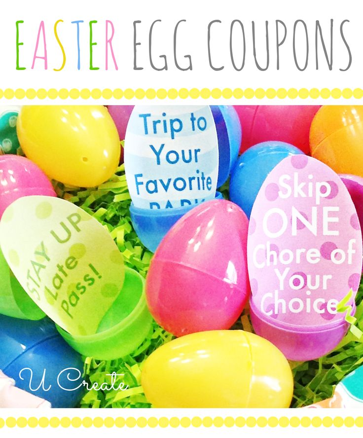 Easter Egg Coupons - Get the kids excited with an Easter egg hunt without so much candy!!