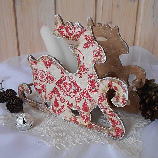 tinuszDecorArt / Dekorácia,zasnežený vianočný sob