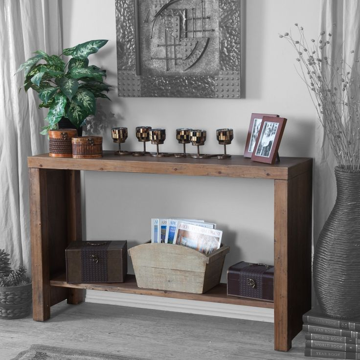 Have to have it. Belham Living 48L x 30H in. Brinfield Rustic Console Table - $159.98 @hayneedle