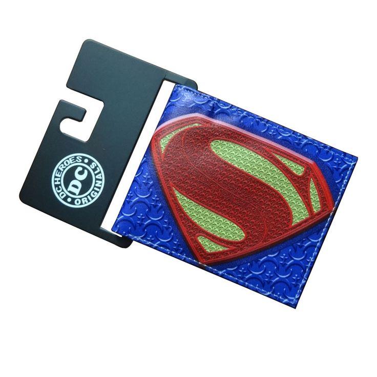 DC Marvel Comics Superman Wallets Anime Cartoon Famous Movie Super Hero Purse Leather Bags PU Leather Short Wallet