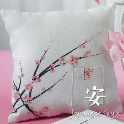 If you just love cherry blossoms, you could even use this ring pillow for decor for your home.