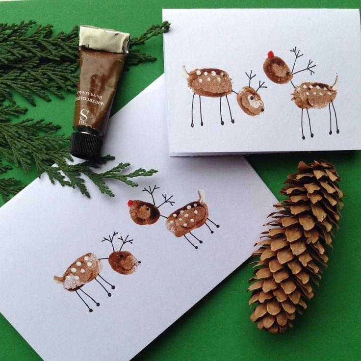 Die letzten Weihnachtskarten, die Fingerabdruck-Ro…