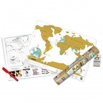 #design3000 Landkarte zum Freirubbeln der besuchten Reiseziele.