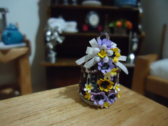 miniature decorative bird  cage 1:12 scale by MINISSU on Etsy