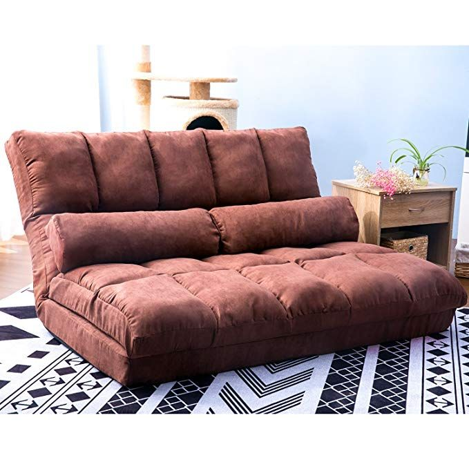 Harper Bright Designs Chaise Lounge Sofa Chair Floor Couch With Lumbar Cushion Brown Review Chaise Lounge Sofa Floor Couch Sofa Chair