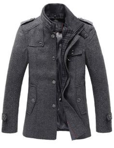 Match Mens Wool Classic Pea Coat Winter Coat ON SALE FOR WINTER STORM - List price: $99.99 Price: $29.99 Saving: $70.00 (70%)