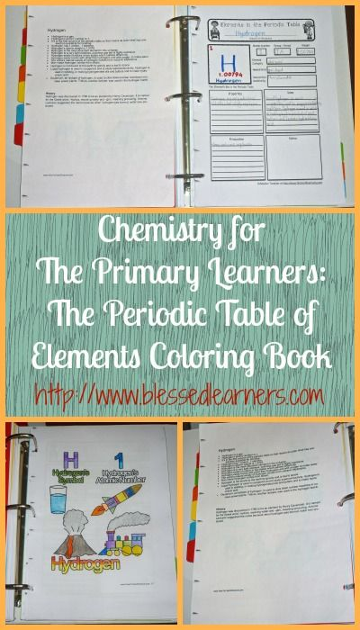 The Periodic Table of Elements Coloring Book helps our sons in getting to know the elements in the Periodic Table in a fun way.