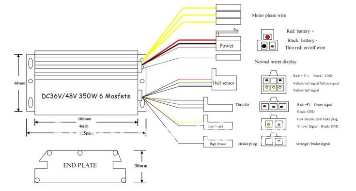 Electric Bike Controller Wiring Diagram in addition ...