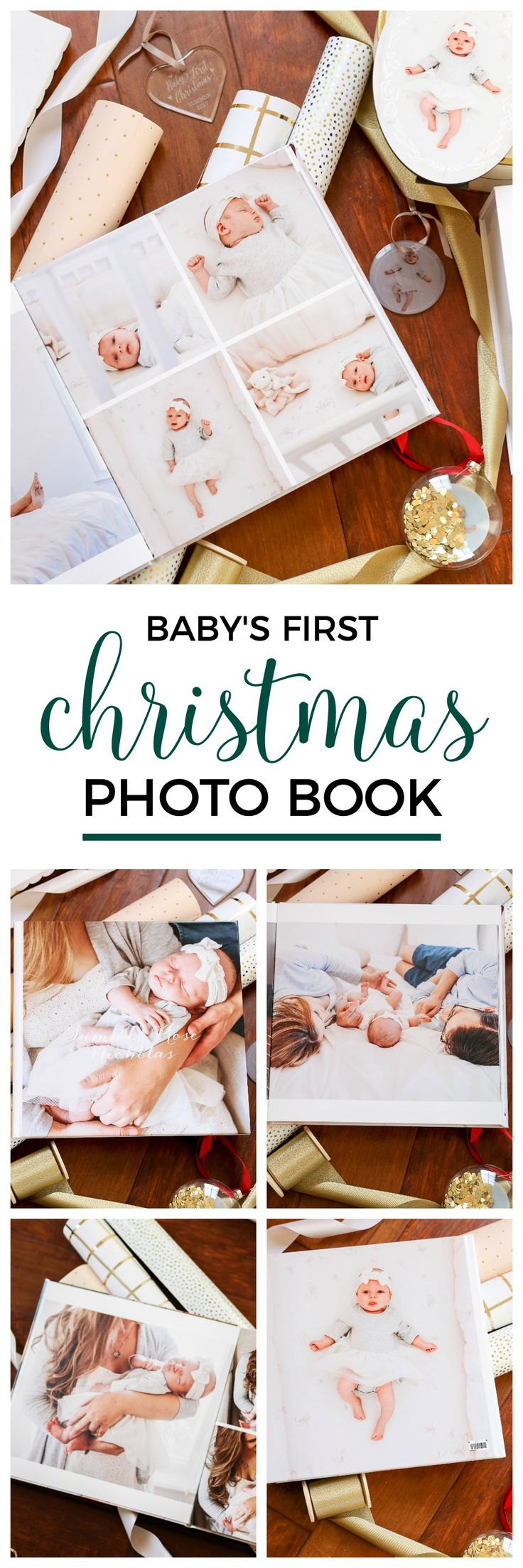 How to create a custom photo book for baby's first Christmas! Click through to see the best personalized Christmas gift ideas for everyone on your list with Shutterfly and Orlando, Florida lifestyle blogger Ashley Brooke Nicholas! #shutterfly sponsored by Shutterfly | Christmas gift ideas, personalized gift ideas, monograms, monogrammed, monogrammed gifts, photo books, baby's first christmas, Santa sack, flocked Christmas tree, Christmas gift ideas, unique gift ideas, newborn photos
