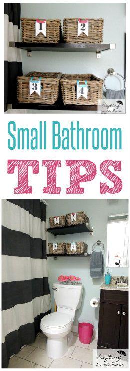Small Bathroom Ideas | Crafting in the Rain #organization #bathroomdecor