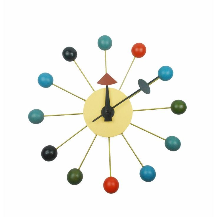The Multi Colored Bubble Wall Clock is made using metal spokes and multi-color wooden balls. This mid century clock is a great piece to own! #midcentury #clock #time #bubbles #colors #backintime #retro #oldschool #blue #tiempo #homedecor #decoration #interiordesign #designs #homesweethome #kids #babyroom #office #black #realestate #la #fhfmodern #midcenturymodern #artistic #retrodesign #metal #orange #clock #vintagestyle #beauty