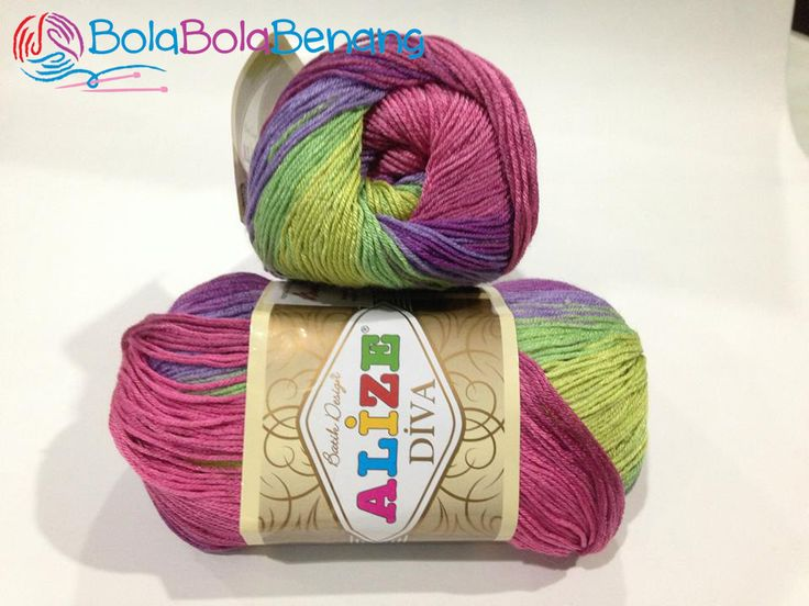 ALIZE DIVA BATIK 3241, Price: 90.000,-/gulung, Bahan: 100% Microfiber Akrilik, Berat/Panjang: 100gr/350m, Knitting Needles: 2,5mm – 3,5mm, Crochet Hook: 1mm - 3mm