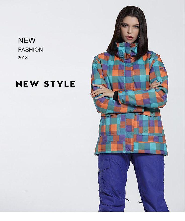 Cheap Gsou Snow Women's Colorful Thermal Waterproof Windproof Snowboard Jacket Online