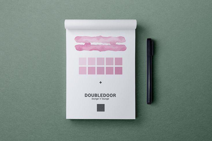 archventil_doubledoor_bar_identity (2) #archventil #doubledoor #brandidentity #visualidentity #bar #lounge #looknfeel #logo #brandmark #tagline #brandmanual #colorpalette #type #pattern #shape #icon #black #rose #green