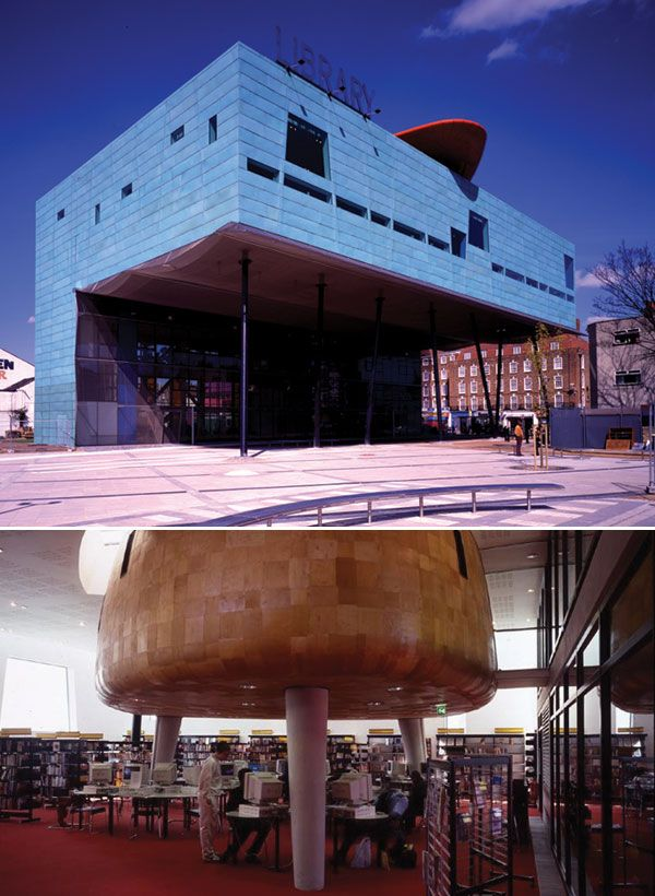 6 of 25 The Peckham Library, designed by William Alsop and Jan Störmer, South London