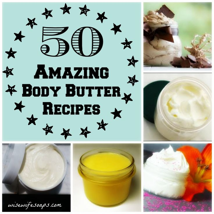 50 Top Body Butter Recipes! Make your own DIY body butter. From Mango to Mocha, these amazing body butter recipes are easy and amazing!