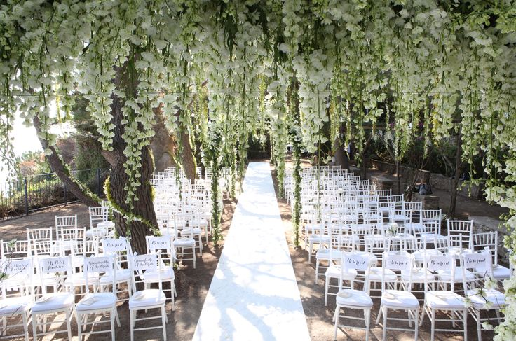Luxury Capri (Italy) event destination and event planning design photos: Twilight Ceremony in Secret Garden in Italy, Amalfi Coast, Ravello & Capri