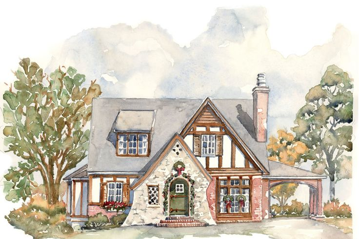 House Plans We Know You'll Love. A Tiny Tudor Rendering