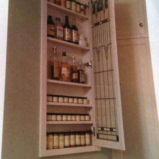 Between Studs Spice Cabinet.