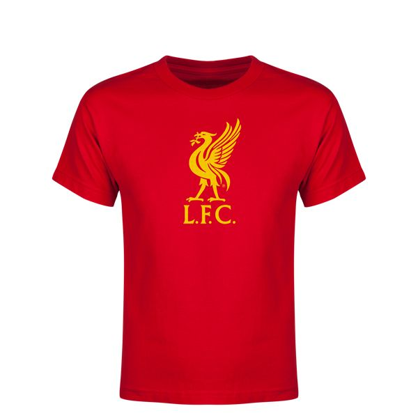 Liverpool Halftone Logo Youth T-Shirt (Red)