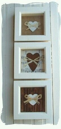 Framed Hearts.