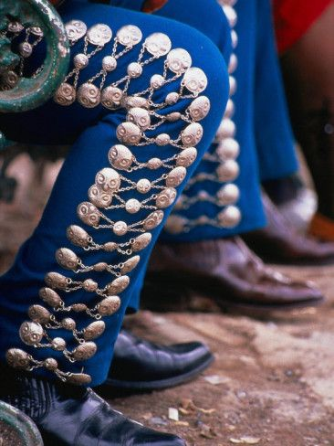 A Mariachi's silver botonadura.: Article, Style, Color, Blue, Mexico, Rough Guide